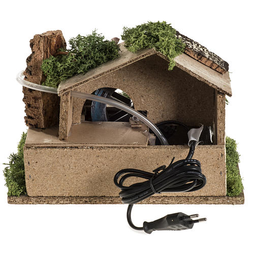Nativity setting, electric water mill 18x24x18cm 6