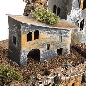 Borgo cartone con torre: ambiente presepe s4