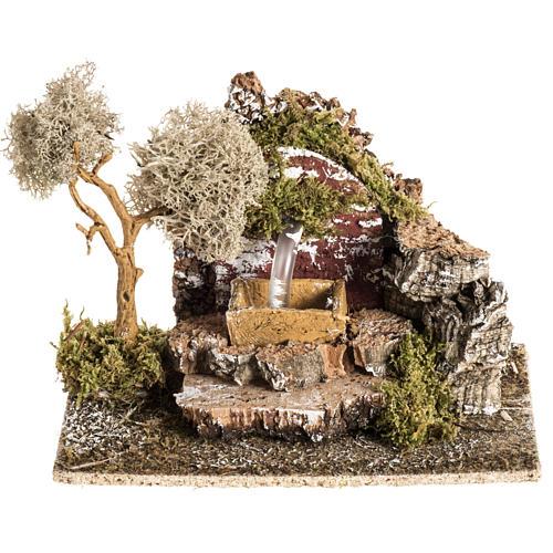 Faux fontaine milieu crèche de Noel 1