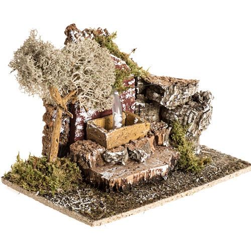 Faux fontaine milieu crèche de Noel 2