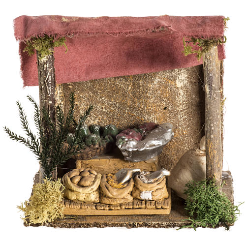 Nativity setting, shop with tent 1