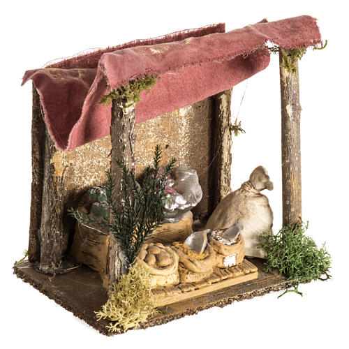 Nativity setting, shop with tent 2