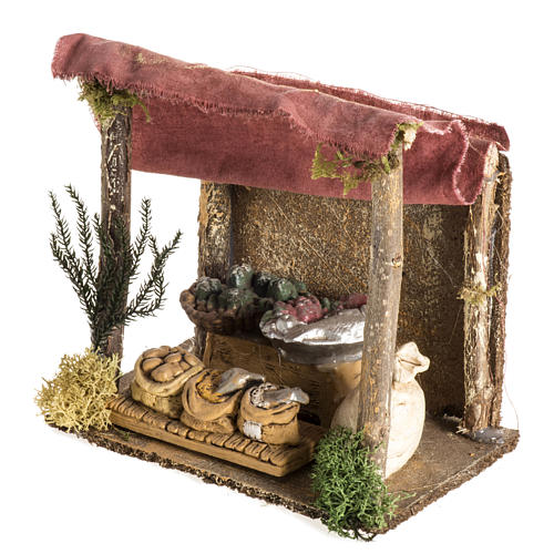 Nativity setting, shop with tent 3