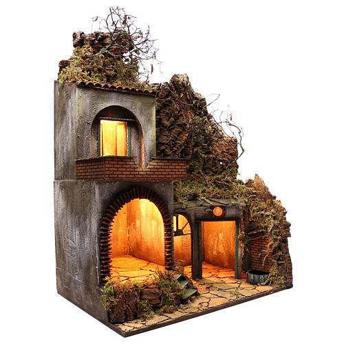 Neapolitan Nativity Village, 50X70X90 cm 3