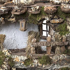 Capanna presepe 80x110x70 cm borgo e fontana s10