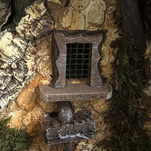 Capanna presepe 80x110x70 cm borgo e fontana 17
