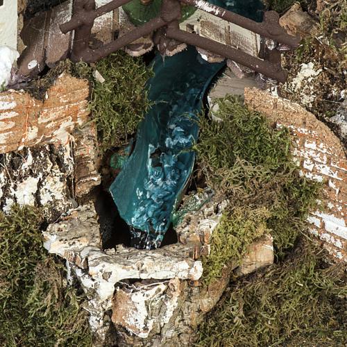 Borgo presepe 45x75x35 cm con cascata 5