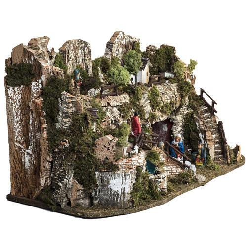 Borgo presepe 45x75x35 cm con cascata 6