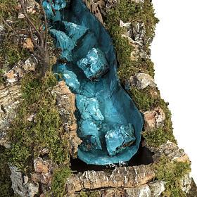 Capanna presepe con mulino a vento e cascata s4