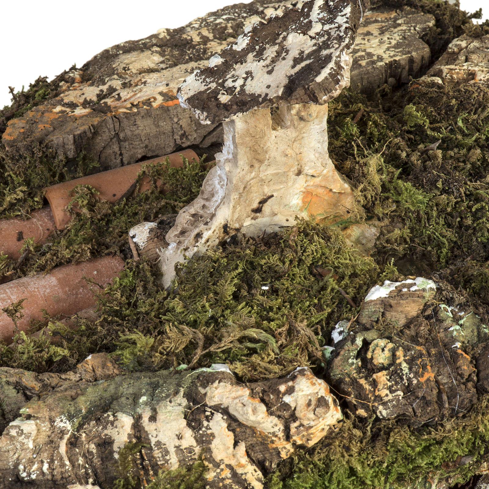 Stalla presepe con mulino a vento 58x50x38 cm 4