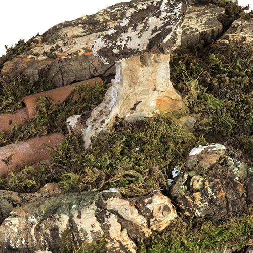 Stalla presepe con mulino a vento 58x50x38 cm 5