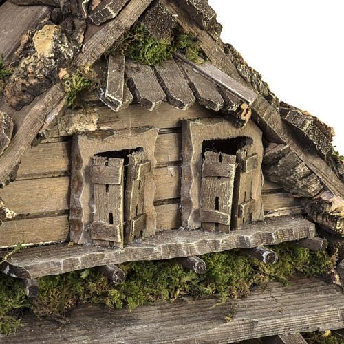 Cabaña estilo refugio para el pesebre con fuente 56x48x38 6