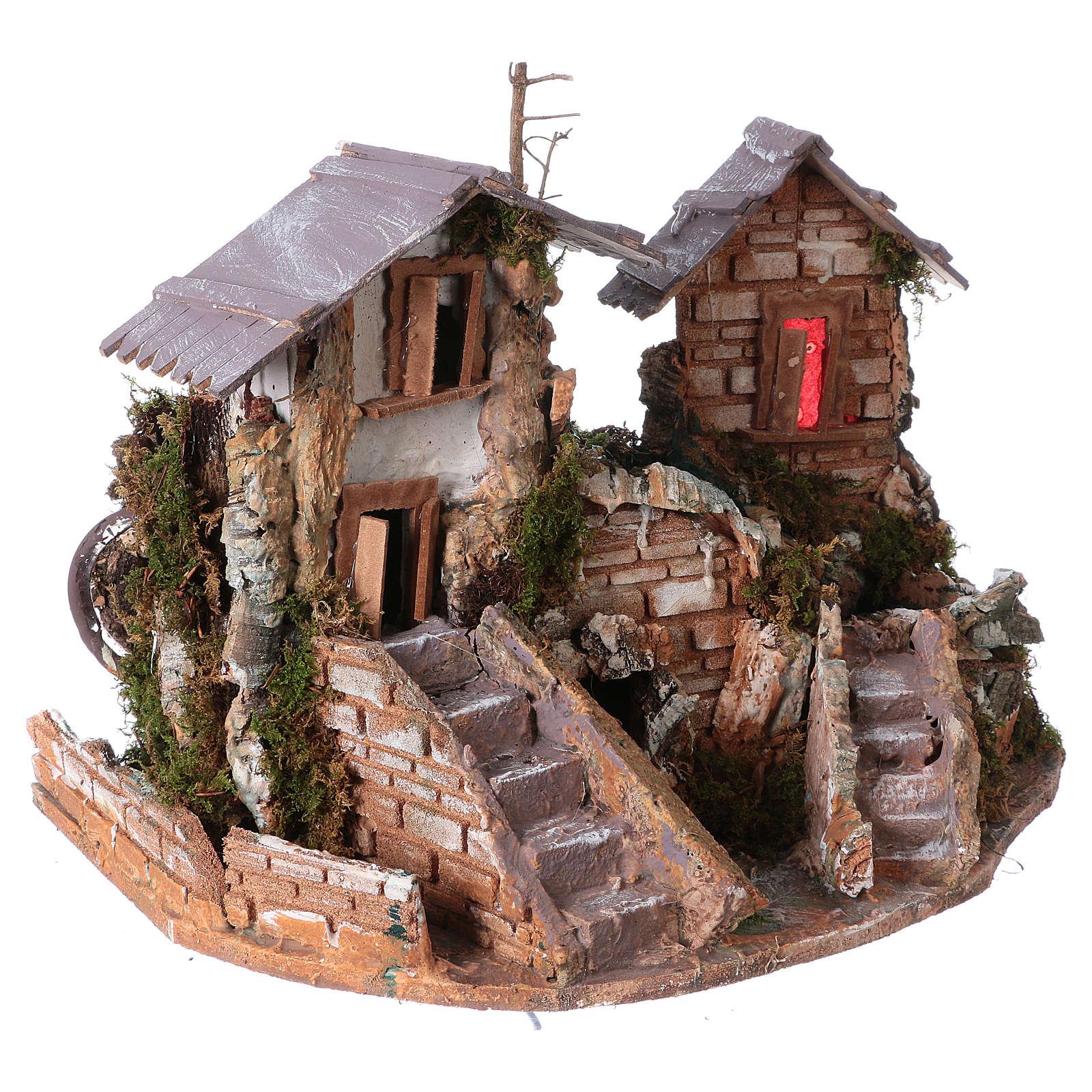 Cascada entre las casas: ambientación pesebre 4