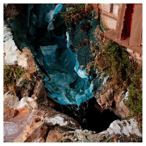 Cascada entre las casas: ambientación pesebre 2