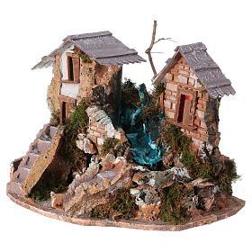 Cascade dans les maisons, milieu crèche de noel s3