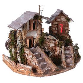 Cascade dans les maisons, milieu crèche de noel s4
