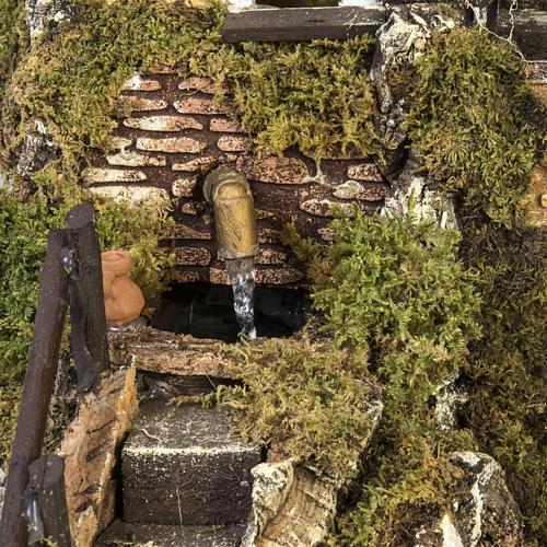 Borgo presepe con fontana, ruscello, staccionata 2