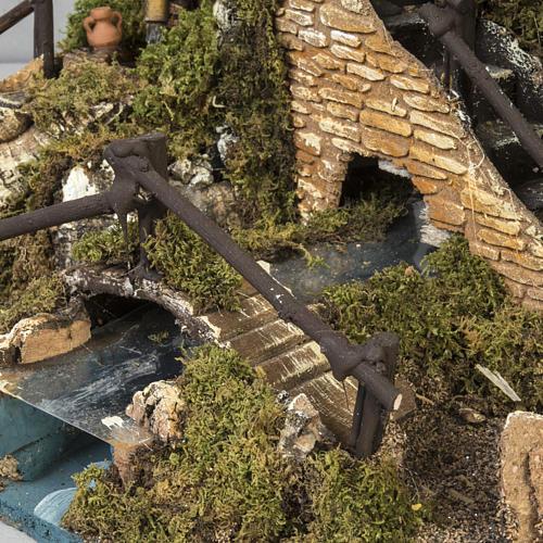 Borgo presepe con fontana, ruscello, staccionata 7