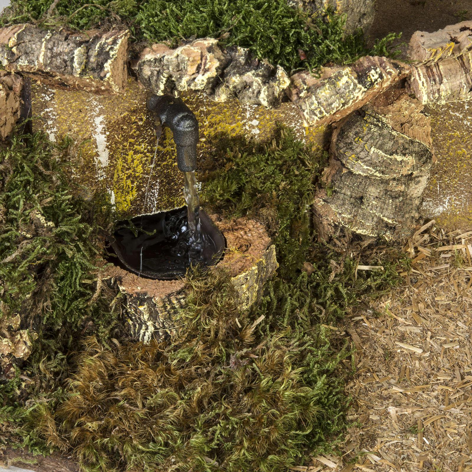 Capanna presepi fontana porta 28x42x18 cm 4