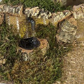 Capanna presepi fontana porta 28x42x18 cm s4