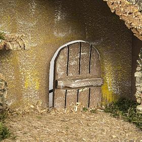 Capanna presepi fontana porta 28x42x18 cm s5