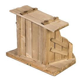 Capanna presepe legno 28x38x28 cm s4