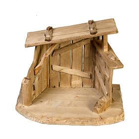 Capanna presepe legno 28x38x28 cm s5