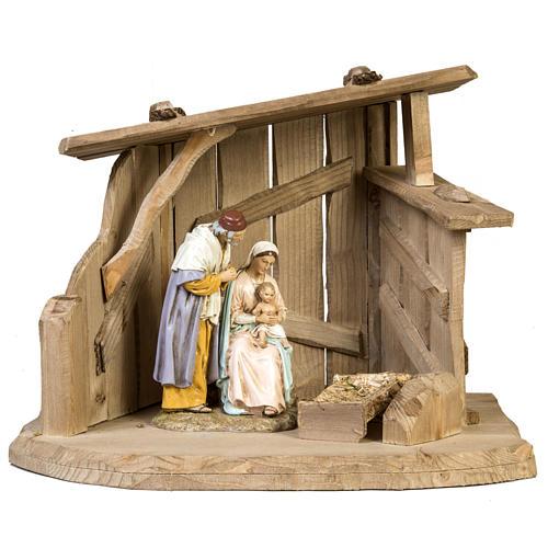 Capanna presepe legno 28x38x28 cm 1
