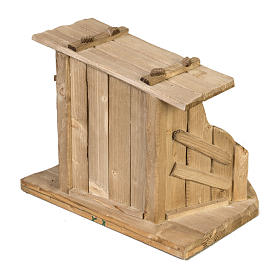 Nativity setting, wooden stable 28x38x28cm s4