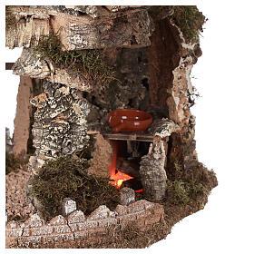 Grotta presepe fuoco e anfora 40x58x38 cm s2