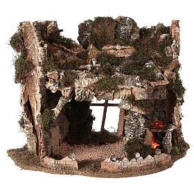 Grotta presepe fuoco e anfora 40x58x38 cm s4