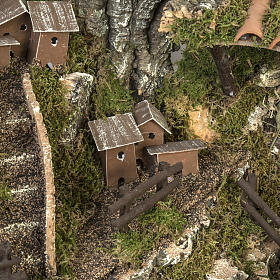 Borgo illuminato presepe 28x57x27 cm s4