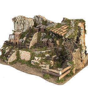 Borgo illuminato presepe 28x57x27 cm s5