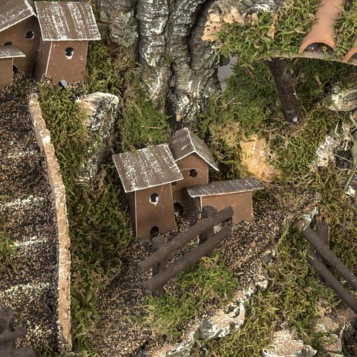 Borgo illuminato presepe 28x57x27 cm 4