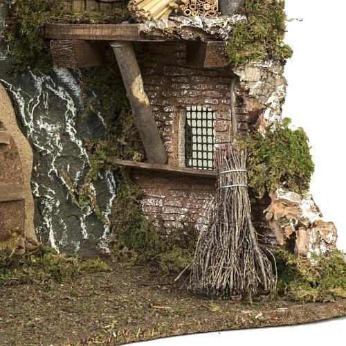 Cabaña con puerta y techo para pesebre 32x50x24cm 6