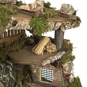 Étable crèche Noel porte et toit 32x50x24 cm s4