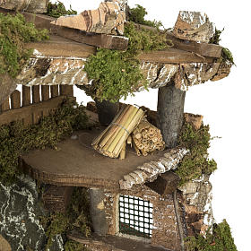 Capanna presepe porta e tetto 32x50x24 cm s4