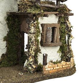 Capanna presepe con porta e finestre 30x42x18 cm s4