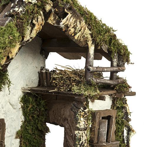 Capanna presepe con porta e finestre 30x42x18 cm 6