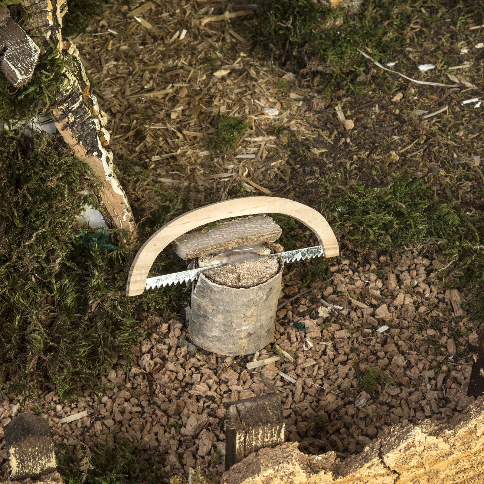 Cabaña tipo refugio con accesorios para pesebre 40x58x38c 4