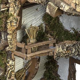 Cabaña tipo refugio con accesorios para pesebre 40x58x38c s6