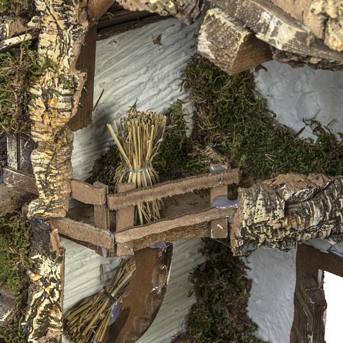 Cabaña tipo refugio con accesorios para pesebre 40x58x38c 6
