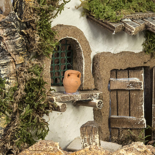 Cabaña tipo refugio con accesorios para pesebre 40x58x38c 9
