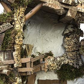 Capanna presepe tipo baita con accessori 40x58x38 cm s4