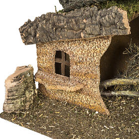 Nativity setting, stable with ladder and barn 30x50x24cm s5
