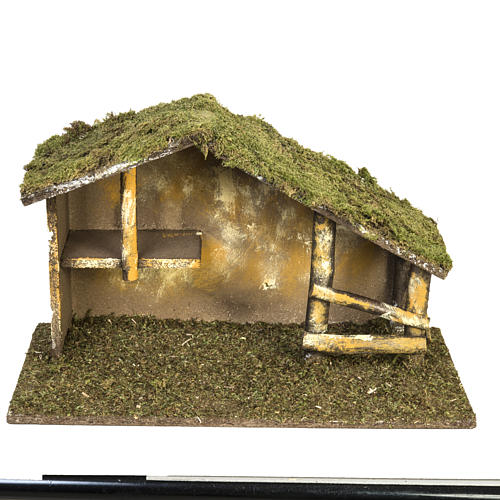 Nativity setting, traditional stable 1