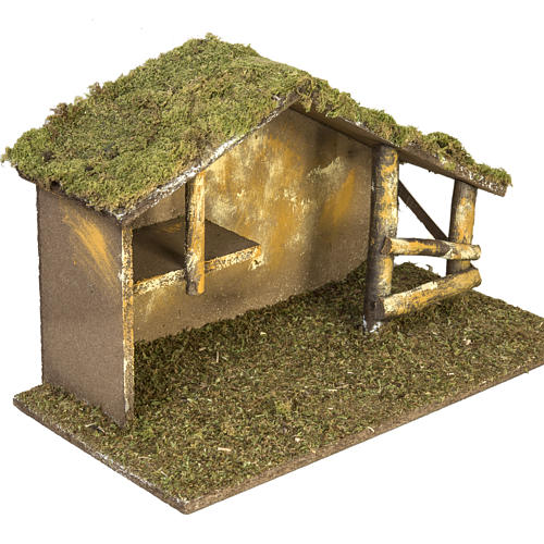 Nativity setting, traditional stable 3