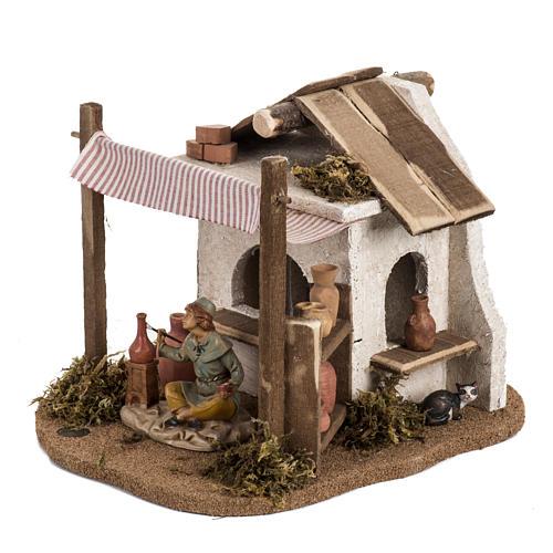 Atelier du céramiste crèche  Fontanini village 12 cm 3