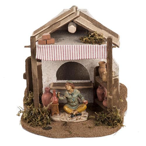 Vasaio presepe Fontanini per villaggio cm 12 1