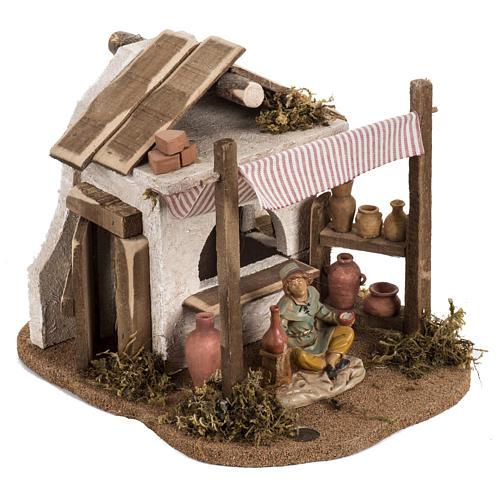 Vasaio presepe Fontanini per villaggio cm 12 2